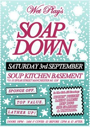 soap down